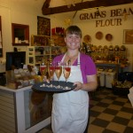 Amy serving Champaign w/ blood oranges